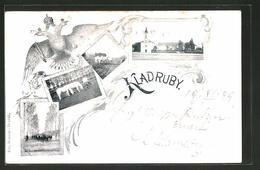 AK Kladruby, Ortsansicht, Pferde - Czech Republic