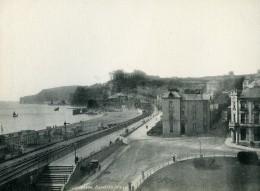 Royaume Uni Dawlish Panorama La Plage Ancienne Phototypie Frith 1900 - Photographs