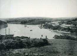 Royaume Uni Cornouailles Truro Malpas Riviere Fal Panorama Ancienne Phototypie Frith 1900 - Photographs
