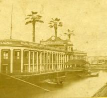 France Paris Bains De La Samaritaine Palmiers Ancienne Stereo Photo 1860 - Stereoscopic