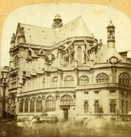 France Paris Eglise Sainte Eustache Ancienne Stereo Photo 1860 - Stereoscopio