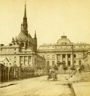 France Paris Palais De Justice Et Sainte Chapelle Conciergerie Ancienne Stereo Photo 1860 - Stereoscopic