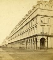 France Paris Rue De Rivoli Grand Hotel Ancienne Stereo Photo 1865 - Photos Stéréoscopiques