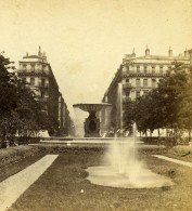 France Lyon Rue Imperiale Ancienne Stereo Photo Muzet & Joguet 1870 - Stereoscopic