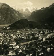 Suisse Interlaken Harder Panorama Ancienne Stereo Photo NPG 1900 - Stereoscopic