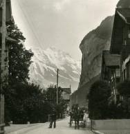 Suisse Lauterbrunnen Staubbach Ancienne Stereo Photo 1900 - Stereoscopic