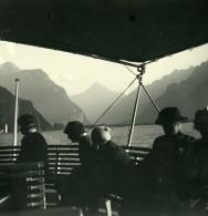 Suisse Lac Des Qautres Cantons Fluelen Vallée De La Reuss Ancienne Stereo Photo 1900 - Stereoscopic