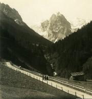 Suisse Rosenlaui Wetterhorn Ancienne Stereo Photo Wehrli 1900 - Stereoscopic
