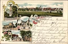 Lithographie Salzkotten In Nordrhein Westfalen, Panorama, Denkmal, Kirche, Franzisanessen Kloster - Deutschland
