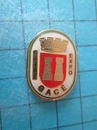 Pin715d Pin's Pins / VILLES : GACE ORNE FOIRE EXPO BLASON ECUSSON ARMOIRIES   Rare Et De Belle Qualité !!! - Villes