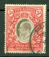 East Africa & Uganda Protectorates: 1904/07   Edward    SG30   5R    Used - Kenya, Uganda & Tanganyika