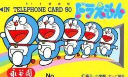Télécarte Japon * MANGA * Chat * DORAEMON (523) Cinéma Animé CAT Japan PHONECARD * COMIC * MOVIE FILM *TK Cartoon Cinema - Comics