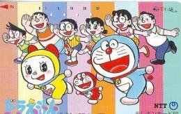 Télécarte Japon * MANGA * Chat * DORAEMON (524) Cinéma Animé CAT Japan PHONECARD * COMIC * MOVIE FILM *TK Cartoon Cinema - BD