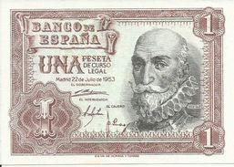 ESPAÑA BILLETE DE 1 PESETAS  (22 DE JULIO DE 1953 ) ( SIN CIRCULAR) - [ 3] 1936-1975 : Régence De Franco