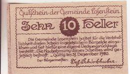 9-Banconote-Carta Moneta Di Emergenza-NOTGELD-Austria-Osterraich-Emergency Money-10 Heller-1920 - Autriche