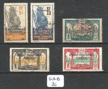 GAB YT 91/93/96/98/103 Obl - Gabon (1886-1936)