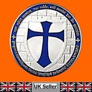 Knights Templar Blue Cross / Masonic Coin .999 Silver - Tokens & Medals