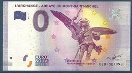 Billet Touristique 0 Euro 2017 Archange Du Mont Saint Michel - Private Proofs / Unofficial