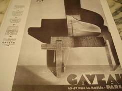 ANCIENNE PUBLICITE PIANO MODELE 301 DE GAVEAU 1929 - Music & Instruments