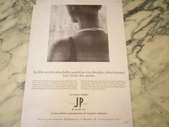 ANCIENNE PUBLICITE PERLE IRRISE DE JP   1929 - Autres
