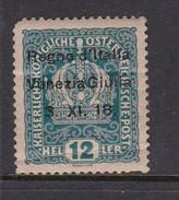 Venezia Giulia N5 1918 Austrian Stamps Overprinted 12h Light Blue Mint Hinged - 8. WW I Occupation