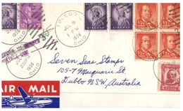 (300) USA To Australia - Under Paid And Taxed Cover - 1956 - Verenigde Staten