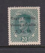Venezia Giulia N7 1918 Austrian Stamps Overprinted 20h Dark Green Used - 8. WW I Occupation