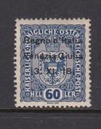 Venezia Giulia N12 1918 Austrian Stamps Overprinted 60h Deep Blue Mint Hinged - 8. WW I Occupation