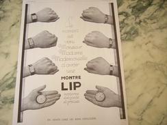 ANCIENNE PUBLICITE MONTRE LIP MODERNE 1929 - Bijoux & Horlogerie