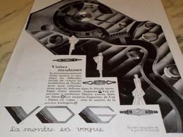ANCIENNE PUBLICITE MONTRE VOG LA MONTRE EN VOGUE  1929 VISITEZ MESDAMES - Bijoux & Horlogerie
