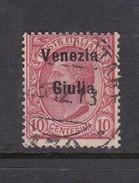 Venezia Giulia N23 1918 Italian Stamps Overprinted 10c Claret Used - 8. WW I Occupation