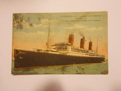 """Carte Postale -  """"Le """"Leviathan"""" Ex """"Vaterland"""" De La USL -  Bâteau - Cherbourg (1501) - Paquebots"""
