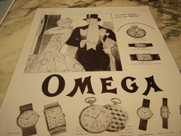 ANCIENNE PUBLICITE MONTRE OMEGA LE MONDE ELEGANT 1929 - Bijoux & Horlogerie