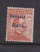 Venezia Giulia N24 1918 Italian Stamps Overprinted 20c Brown Orange Mint Hinged - 8. WW I Occupation