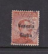 Venezia Giulia N24 1918 Italian Stamps Overprinted 20c Brown Orange Used - 8. WW I Occupation