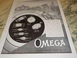 ANCIENNE PUBLICITE MONTRE OMEGA CHASSEUR VITE EN CAMPAGNE  1930 - Autres