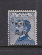 Venezia Giulia N25 1918 Italian Stamps Overprinted 25c Blue Mint Hinged - 8. WW I Occupation