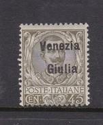 Venezia Giulia N27 1918 Italian Stamps Overprinted 45c Olive Green  Mint Hinged - 8. WW I Occupation