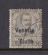 Venezia Giulia N27 1918 Italian Stamps Overprinted 45c Olive Green  Used - 8. WW I Occupation
