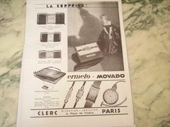 ANCIENNE PUBLICITE MONTRE ERMETO DE MOVADO SURPRISE  1930 - Bijoux & Horlogerie