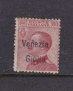 Venezia Giulia N29 1918 Italian Stamps Overprinted 60c Brown Caermine Mint Hinged - 8. WW I Occupation