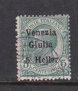 Venezia Giulia N31 1918 Italian Stamps Overprinted 5h On 5c Green Used - 8. WW I Occupation