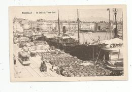 Cp , 13 , MARSEILLE , Un Coin Du Vieux Port , Bateaux , Attelage , Tramway , Vierge - Marseille