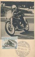 D30776 CARTE MAXIMUM CARD RR 1955 SAN MARINO - MOTOR RACING CP PHOTOCARD - Motorbikes