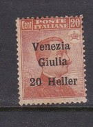 Venezia Giulia N32 1918 Italian Stamps Overprinted 20h On 20c Brown Orange  Mint Hinged - 8. WW I Occupation
