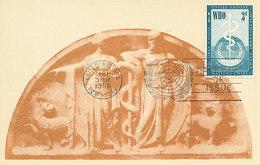D30790 CARTE MAXIMUM CARD 1956 UNITED NATIONS - WHO - AESCULAP CP ORIGINAL - Medicina
