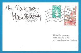 (A625a) - Signature / Dédicace / Autographe Original - Marie DAEMS - Actrice, Comédienne - Autographes