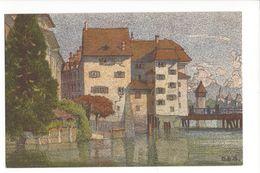17071 - Partie An Der Reuss Par Ernst E. Schlatter Litho Luzern - LU Lucerne