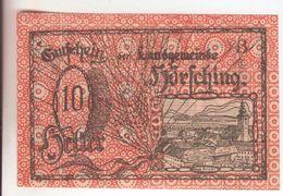 43-Banconote-Carta Moneta Di Emergenza-NOTGELD-Austria-Osterraich-Emergency Money-10 Heller - Oostenrijk