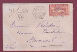 FRANCE- 180717 - Recette Auxilliaire PARIS 69 E Avenue Du Maine Sur Lettre Recommandée Affranchie 40 C Merson - Marcophilie (Lettres)